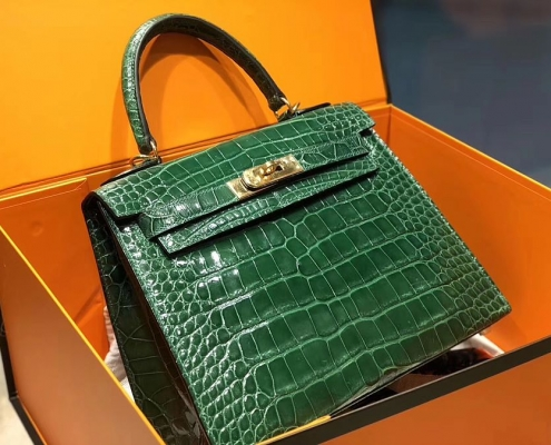 New Arrivals Alligator handbag-Green
