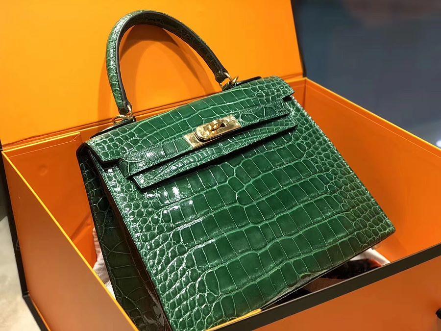 New Arrivals Alligator handbag-Green