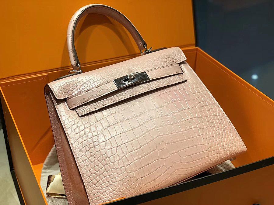 New Arrivals Alligator handbag-Pink