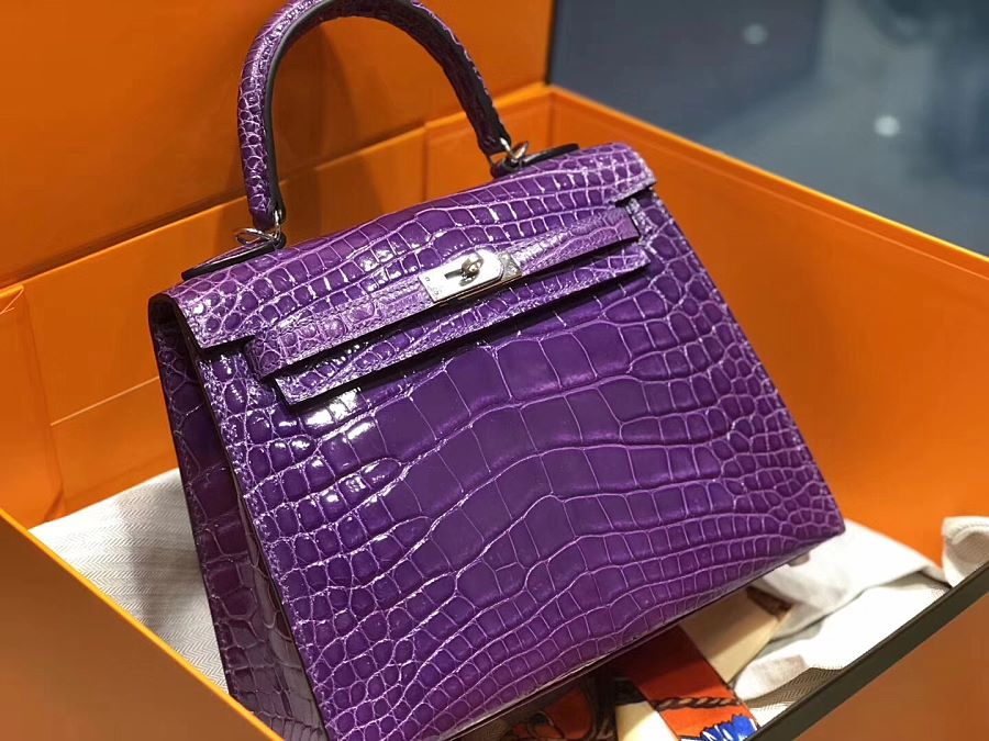 New Arrivals Alligator handbag-Purple