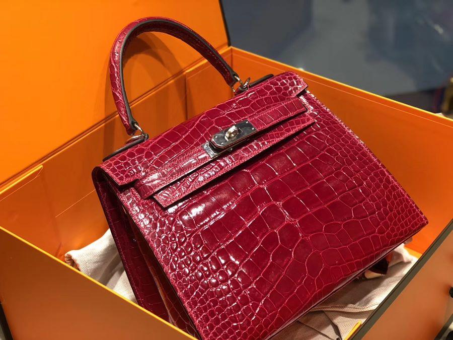 New Arrivals Alligator handbag-Red