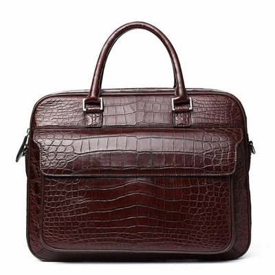 Alligator Briefcase Shoulder Messenger Bag