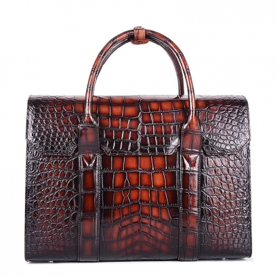 Mens Alligator Leather Briefcase Messenger Bag Business Bag
