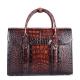 Mens Alligator Leather Briefcase Messenger Bag Business Bag