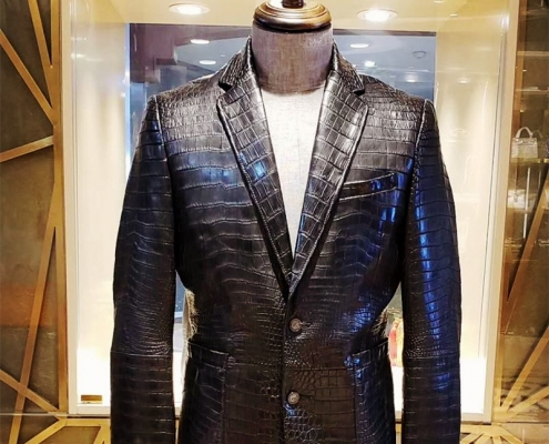 BRUCEGAO's alligator skin jacket