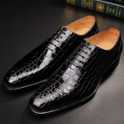 Classic Alligator Leather Wholecut Dress Shoes