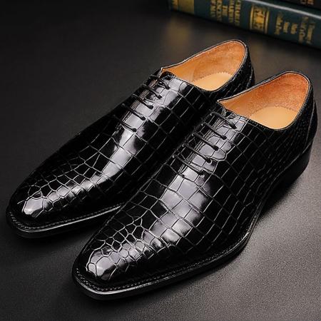 Classic Alligator Leather Wholecut Dress Shoes