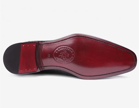 Classic Alligator Leather Wholecut Dress Shoes-Sole