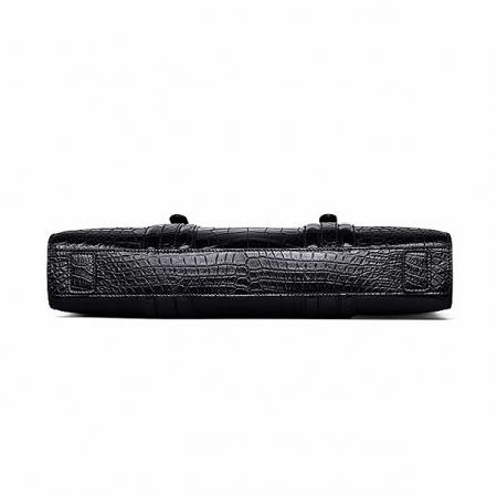 Genuine Alligator Leather Laptop Bag Briefcase Shoulder Bag-Bottom