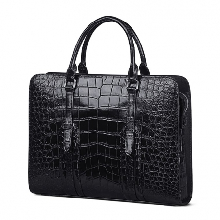Genuine Alligator Leather Laptop Bag Briefcase Shoulder Bag-Side