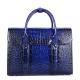 Mens Alligator Leather Briefcase Messenger Bag Business Bag-Blue