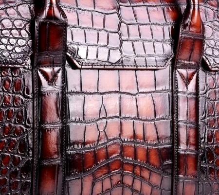 Mens Alligator Leather Briefcase Messenger Bag Business Bag-Details