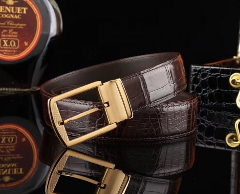 Mens alligator belts