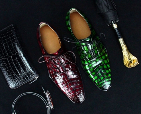 stylish BRUCEGAO's alligator shoes