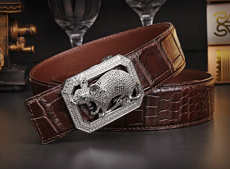 BRUCEGAO's crocodile leather belt