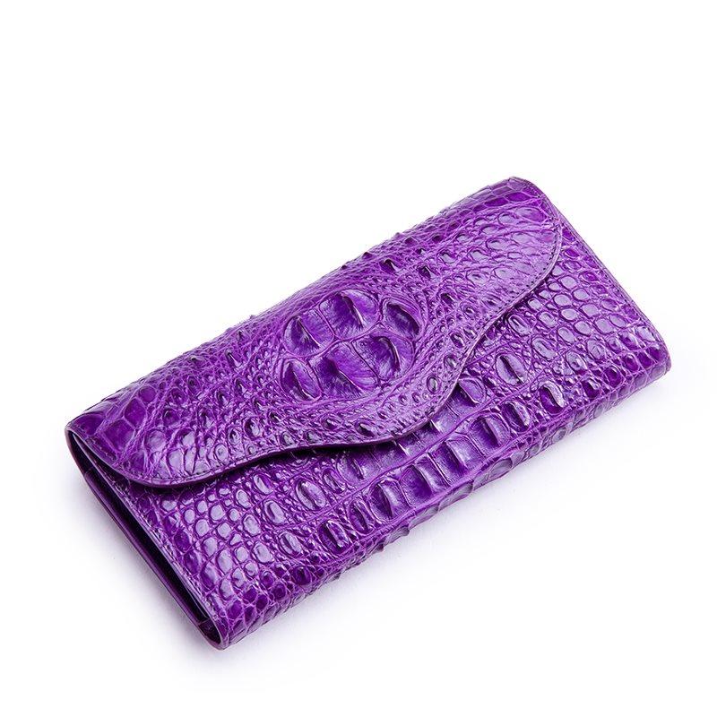 BRUCEGAO's crocodile purse for her