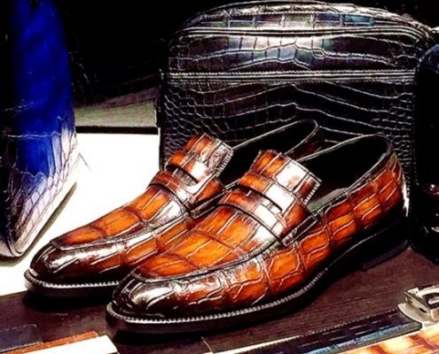 BRUEGAO's crocodile bags and shoes