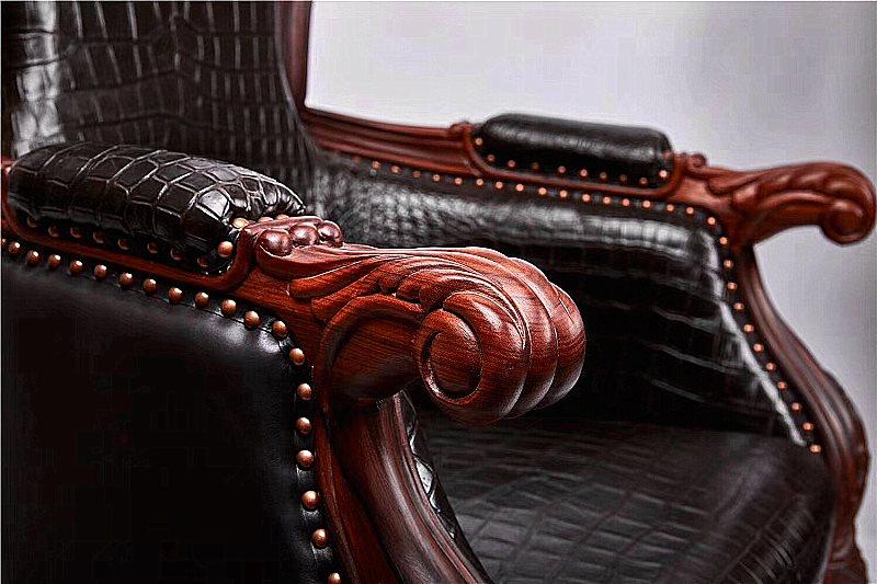Crocodile chairs details