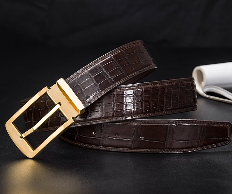 Mens crocodile belts