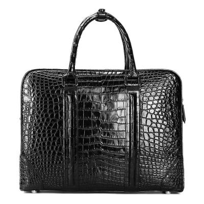 Alligator Leather Briefcase Laptop Bag Shoulder Business Bag for Men