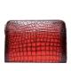 Alligator Portfolio Briefcase Large Capacity Clutch Bag with Hand Strap