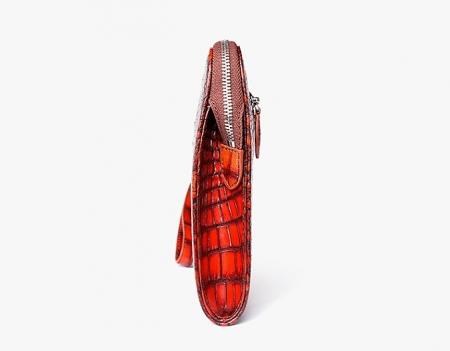 Alligator Portfolio Briefcase Large Capacity Clutch Bag with Hand Strap-Side