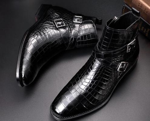BRUCEGAO's Alligator Winter Boots