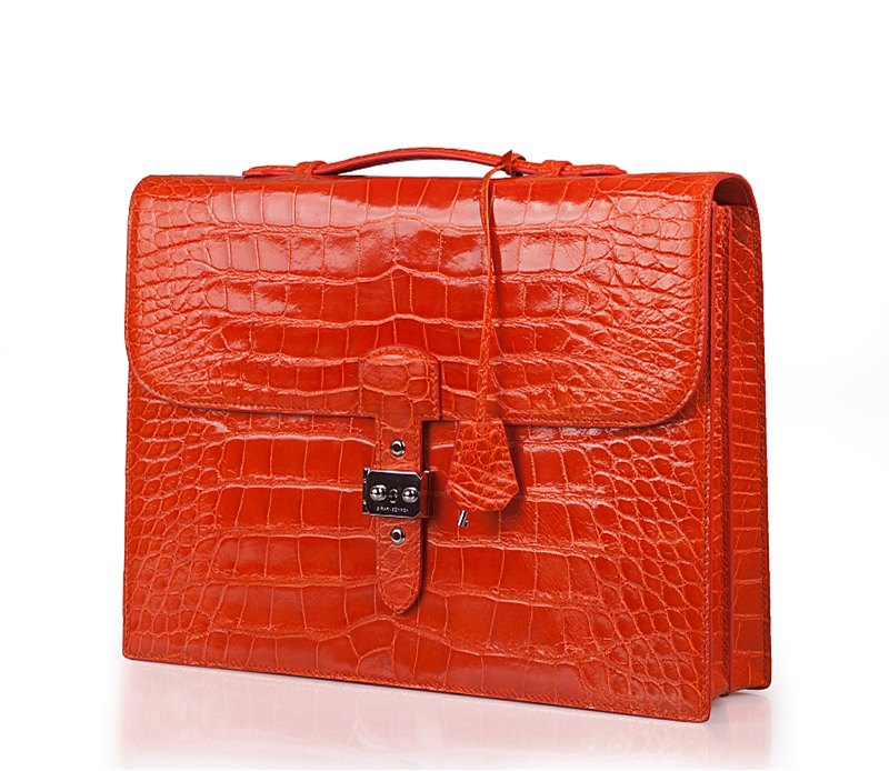 Alligator Work Bag-Red