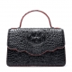 Crocodile Leather Handbag Shoulder Purse Bag-Black