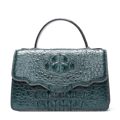 Crocodile Leather Handbag Shoulder Purse Bag-Green