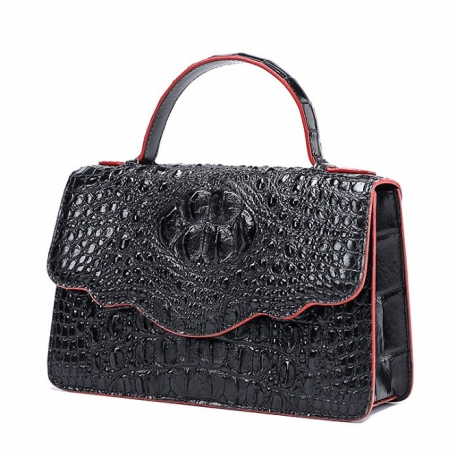 Crocodile Leather Handbag Shoulder Purse Bag-Micro Side