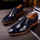 BRUCEGAO alligator leather shoes