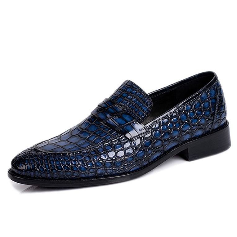 Classic Alligator Penny Loafer Business Shoes for Men