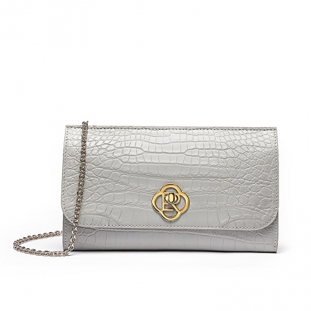 Evening Alligator Envelope Clutch Chain Shoulder Bag
