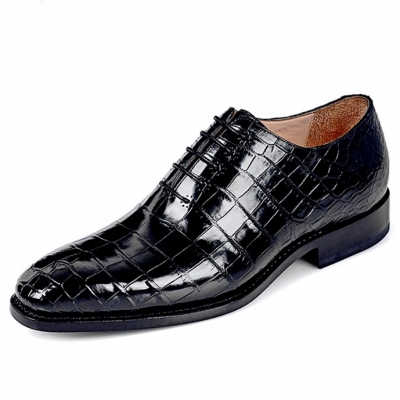 Alligator Leather Men's Classic Wholecut Oxford Shoes
