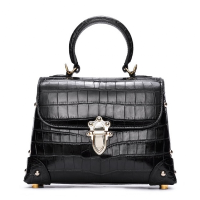Ladies Alligator Handbag Crossbody Shoulder Bag