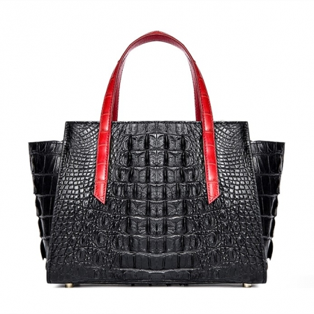 Ladies Crocodile Tote Bag Shoulder Bag-Back