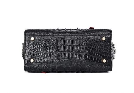 Ladies Crocodile Tote Bag Shoulder Bag-Bottom