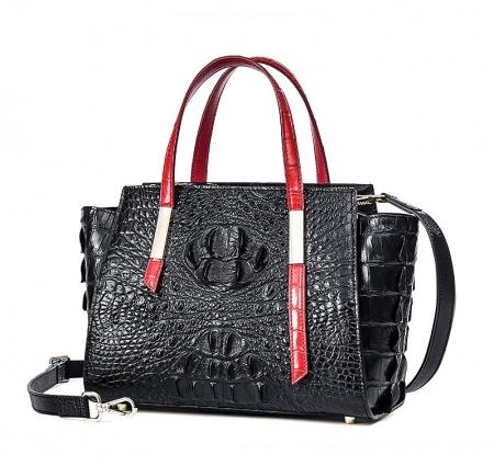 Ladies Crocodile Tote Bag Shoulder Bag-Micro side