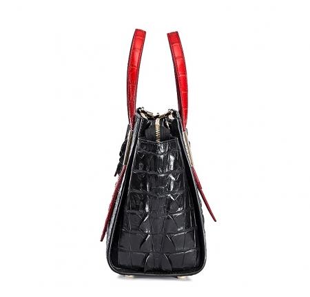 Ladies Crocodile Tote Bag Shoulder Bag-Side