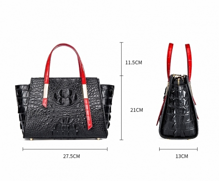 Ladies Crocodile Tote Bag Shoulder Bag-Size