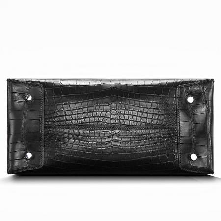 Classic Alligator Leather Tote handbag Shoulder Bag-Bottom