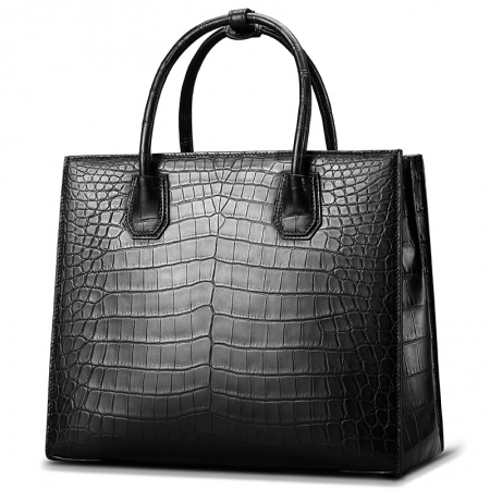 Classic Alligator Leather Tote handbag Shoulder Bag-Micro side