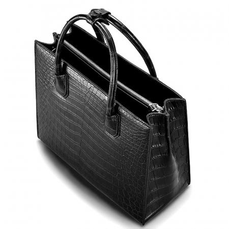 Classic Alligator Leather Tote handbag Shoulder Bag-Top