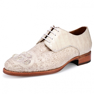 Genuine Crocodile Derby Shoes for Men