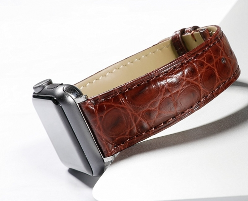designer alligator apple watch band