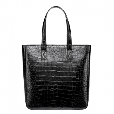 Alligator Leather Tote Shoulder Bag Top Handle Bag for Work Travel
