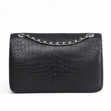 Alligator Flap Bags Chain Clutch Purses Crossbody Shoulder Bags-Back