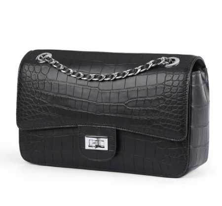 Alligator Flap Bags Chain Clutch Purses Crossbody Shoulder Bags-Micro side