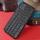 Crocodile iPhone Case with Full Soft TPU Edges-Black- Crocodile Backbone Skin